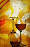 Wine glasses grunge background Stock Photo