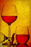Wine glasses grunge background Royalty Free Stock Images