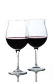 Wine glasses half full Royalty Free Stock Photography