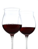 Wine glasses half full with clipping path Royalty Free Stock Photography