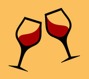 Wine glasses icon Royalty Free Stock Photography