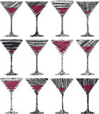 Wine glasses illustration Stock Image