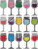 Wine glasses illustration Royalty Free Stock Images