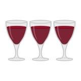 Wine glasses illustration Stock Photography