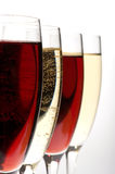 Wine glasses macro Royalty Free Stock Images