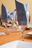 Wine glasses and napkins Royalty Free Stock Photo