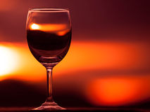 Wine Glasses. Wine Glasses with natural background Stock Photos