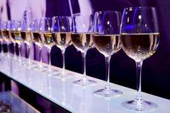 Wine glasses nightclub Stock Images