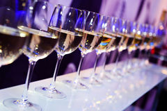 Wine glasses nightclub Royalty Free Stock Images