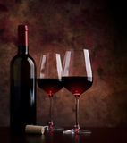 Wine Glasses On The Table Royalty Free Stock Photo