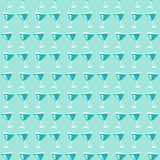 Wine glasses pattern Royalty Free Stock Photography