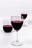 Wine and glasses perspective Stock Photography