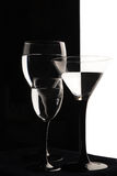 Wine glasses are ready for party Royalty Free Stock Photography