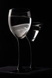 Wine glasses are ready for party Royalty Free Stock Image