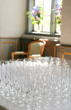 Wine glasses for reception Royalty Free Stock Images