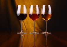 Wine glasses Stock Photos