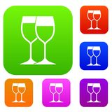Wine glasses set collection Stock Photography