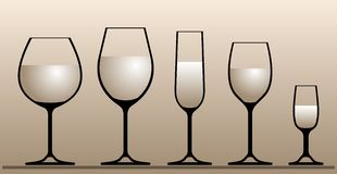 Wine glasses. Royalty Free Stock Photos