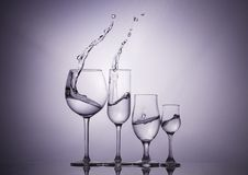 Wine glasses. Still life photography with a glasses of wine Stock Images