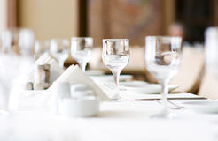 Wine glasses on the table Royalty Free Stock Photography