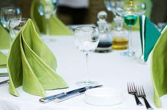 Wine glasses on the table Royalty Free Stock Image