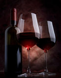 Wine glasses on the table Stock Photos