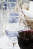 Wine glasses on the table Stock Photo