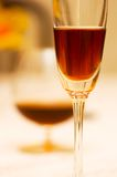 Wine glasses on the table. With shallow DOF Royalty Free Stock Photos