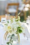 Wine glasses table setup Stock Image