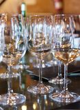 Wine glasses on the table. Royalty Free Stock Images