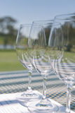 Wine glasses at a tasting Royalty Free Stock Photography