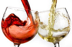 Wine glasses various Stock Image