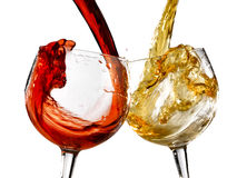 Wine glasses various Royalty Free Stock Photo
