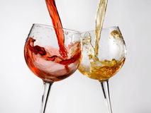 Wine glasses various Royalty Free Stock Image