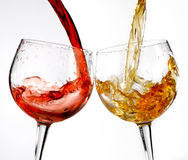 Wine glasses various Royalty Free Stock Photography