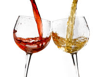 Wine glasses various Royalty Free Stock Photos