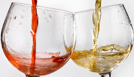 Wine glasses various Royalty Free Stock Images