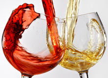 Wine glasses various Stock Photo