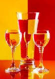 Wine-glasses with water royalty free stock photography