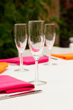Wine Glasses At Wedding Stock Image