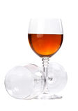Wine in glasses on white Royalty Free Stock Photography