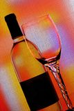 Wine  glassware abstract background . Stock Image