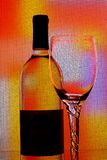 Wine  glassware abstract background . Royalty Free Stock Image