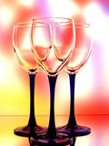 Wine Glassware Abstract Design Stock Images
