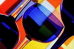 Wine Glassware Abstract Design. Abstract Wine Glassware Background Design Stock Photo