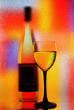 Wine Glassware Abstract Design. Abstract Wine Glassware Background Design Royalty Free Stock Images