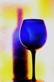 Wine Glassware Abstract Design Stock Image