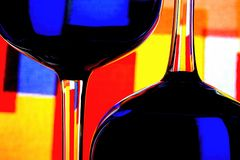 Wine Glassware Abstract Design. Abstract Wine Glassware Background Design Stock Photos