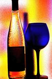 Wine Glassware Abstract Design. Abstract Wine Glassware Background Design Stock Images