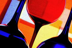 Wine Glassware Abstract Design. Abstract Wine Glassware Background Design Royalty Free Stock Photo